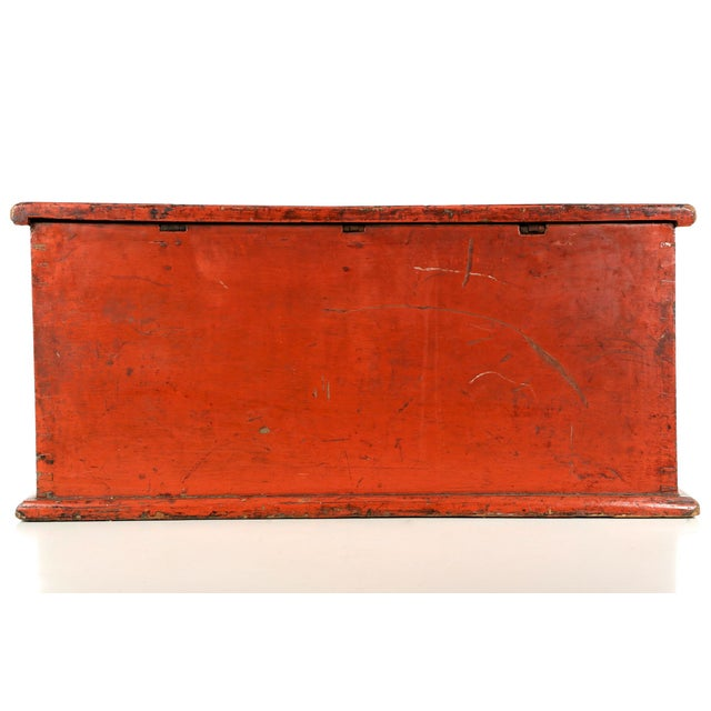 Antique Chinese Red and Gold Blanket Chest, 19th C - Image 7 of 10