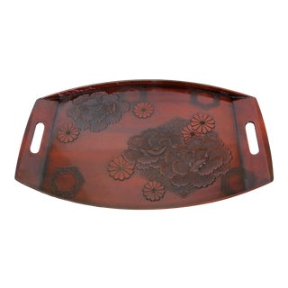 Japanese Lacquer Service Tray For Sale