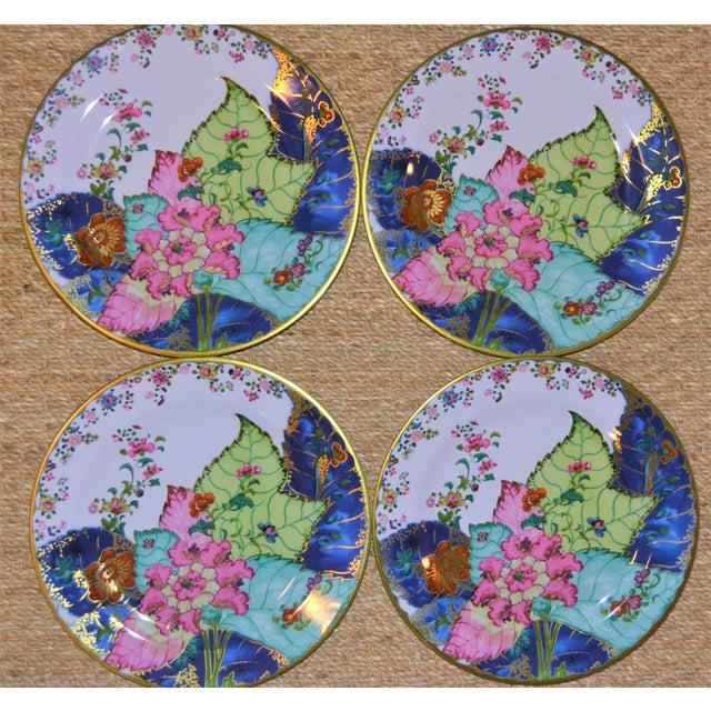 Mottahedeh Enamaled Tin Tobacco Leaf Plates - Set of 4 For Sale - Image 4 of 13