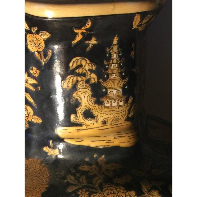Orange Antique Chinese Ceramic Vase For Sale - Image 8 of 13