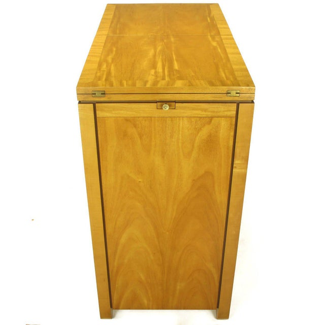 Charles Pfister for Baker Primavera Mahogany Parquetry Bar Cabinet For Sale In Chicago - Image 6 of 10