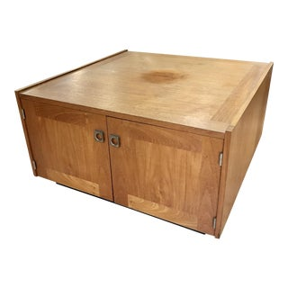 1960s Danish Modern Teak Coffee Table Cabinet For Sale