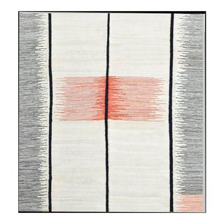 Contemporary Uzbek Flat Weave Area Rug - 9′ × 12′ For Sale