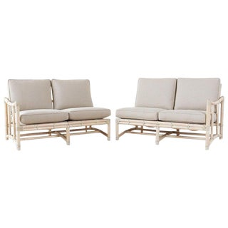 Pair of McGuire California Modern Sectional Sofas For Sale