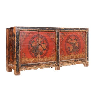 Antique Red Chinese Buffet