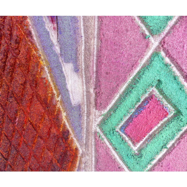 """""""Primitive Geometric Spear"""" Mixed Media Painting For Sale - Image 10 of 13"""