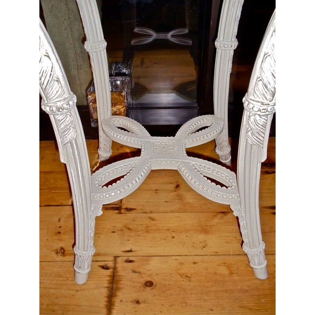 Neoclassical Pair of Neoclassical Painted Marble Top Gueridons or End Tables For Sale - Image 3 of 9