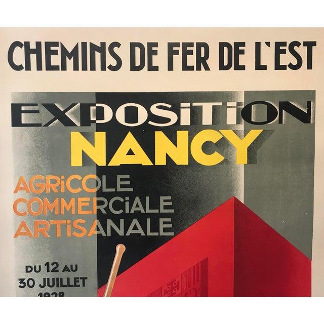 1920s 1928 Original French Art Deco Poster, Paul Colin, Exposition De Nancy (Large) For Sale - Image 5 of 9