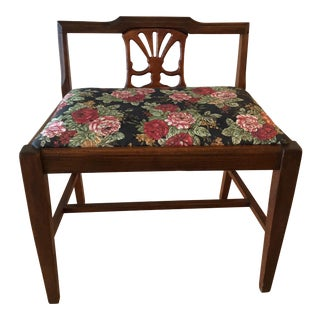 Antique Floral Bench