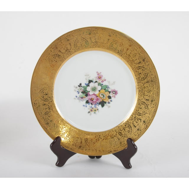 Victorian Bavarian Hutchenreuther Gilt Encrusted Plates - Set of 12 For Sale - Image 3 of 9