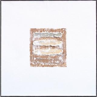 "Len Klikunas ""Tan Strata Pattern: Zuni"" Original Painting For Sale"
