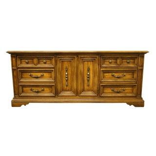 """20th Century Italian Stanley Furniture 76"""" Triple Door Dresser For Sale"""