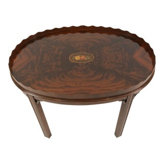 1980s Traditional Councill Mahogany Coffee Table For Sale