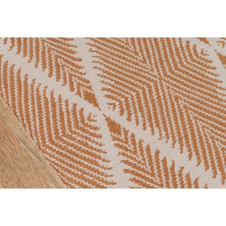 Erin Gates by Momeni River Beacon Orange Indoor/Outdoor Hand Woven Area Rug - 7′6″ × 9′6″ Preview
