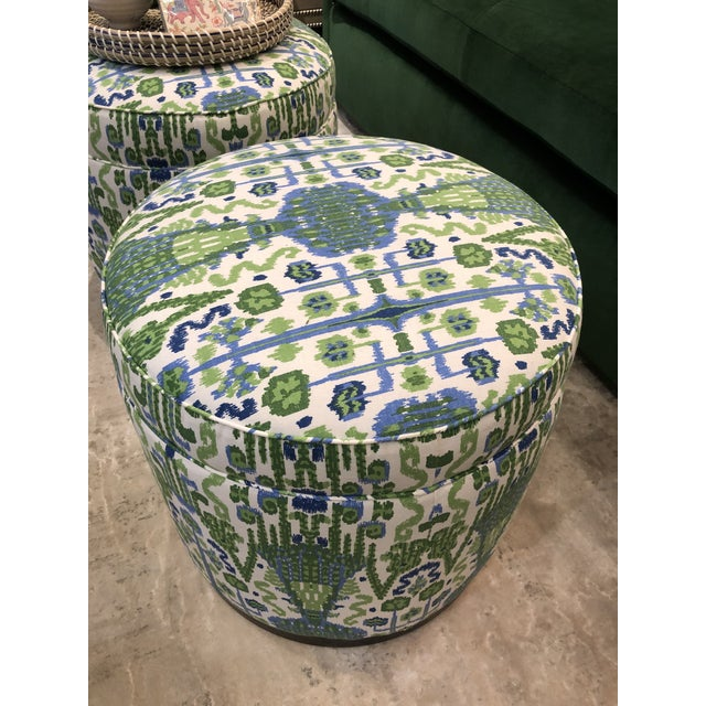 2010s Highland House Grant Swivel Ottomans - Pair For Sale - Image 5 of 8