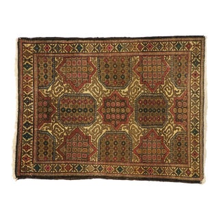 Vintage Persian Mashhad Scatter Rug With Traditional Modern Style, Accent Rug 02'09 X 03'08 For Sale