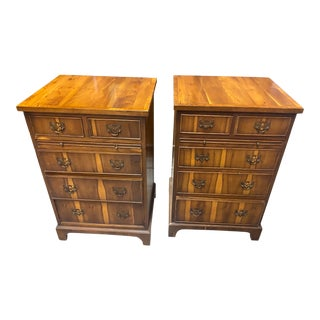 20th Century English Traditional Inlaid Chests-A Pair For Sale