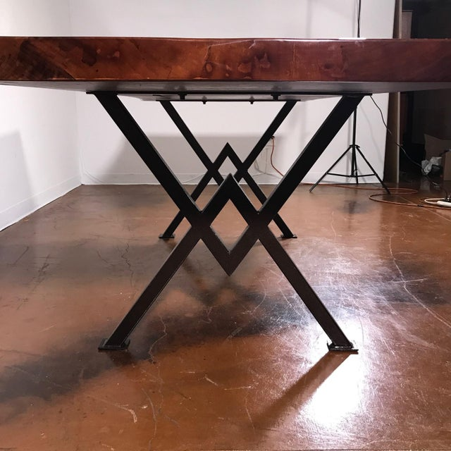 """Wood 92"""" Poplar Live Edge Table For Sale - Image 7 of 8"""