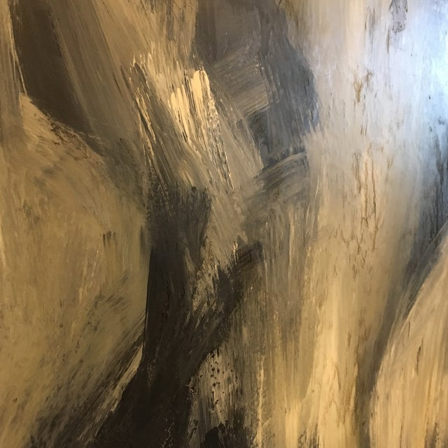 1960's Abstract Figural Oil Painting - Image 4 of 7