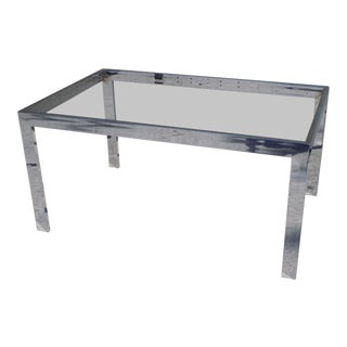 Design Institute of America Chromed Steel Dining Table Base For Sale