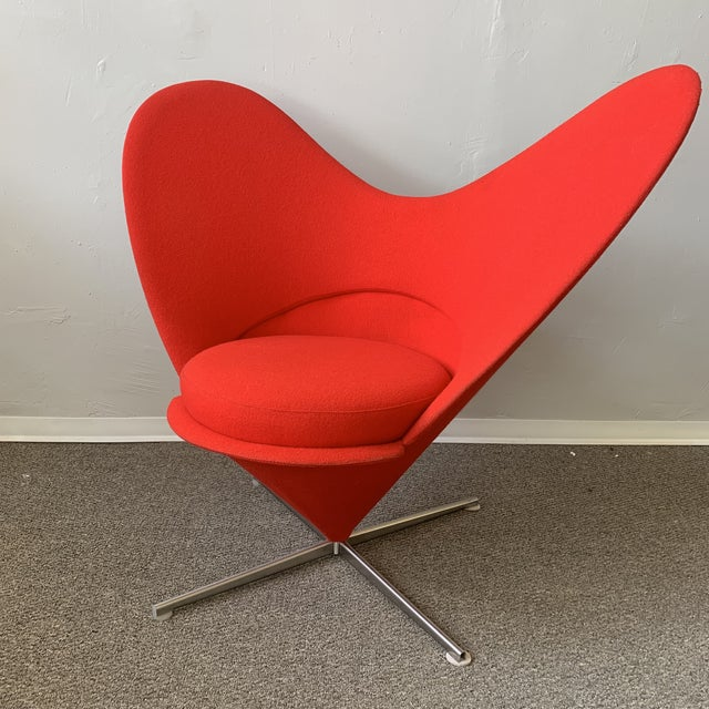 1960s Vintage Verner Panton Heart Chair For Sale In San Francisco - Image 6 of 7