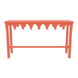 Oomph Ocean Drive Outdoor Console Table, Orange For Sale