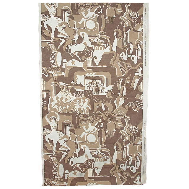 Radio City Music Hall Ruth Reeves Jazz Age Fabric Remnant For Sale - Image 9 of 9