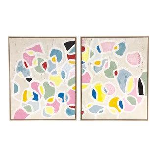 Color Series 17 Encaustic on Board Paintings by John O'Hara - a Pair
