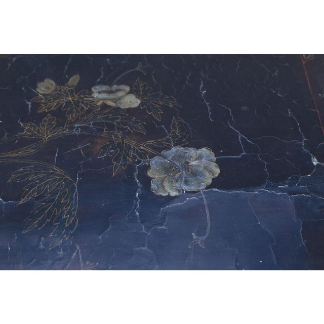 Asian Antique Chinese Black Lacquer Table For Sale - Image 3 of 11