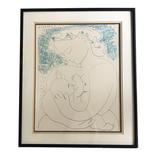 Framed Picasso Lithograph Le Grande Maternité For Sale