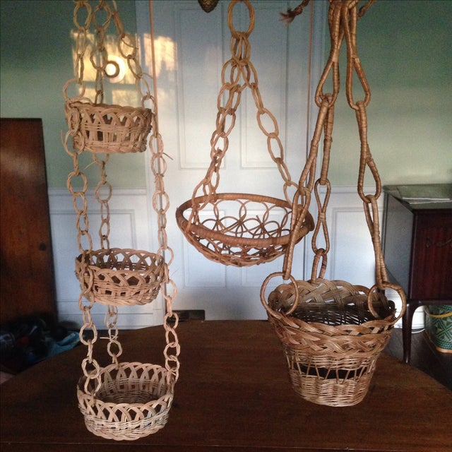 Vintage Plant Hanging Baskets - S/3 - Image 6 of 7