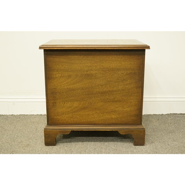 20th Century Traditional National Mount Airy Solid Mahogany Tiered 3 Drawer Accent Table For Sale - Image 9 of 13