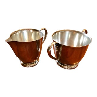 1940s International Sterling Creamer and Sugar - a Pair For Sale