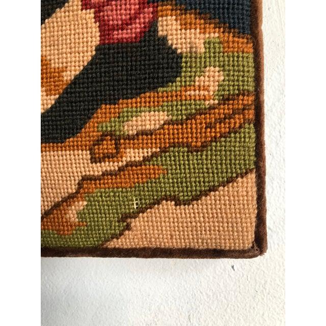 Medieval Needlepoint Drummer Textile Art For Sale - Image 5 of 7