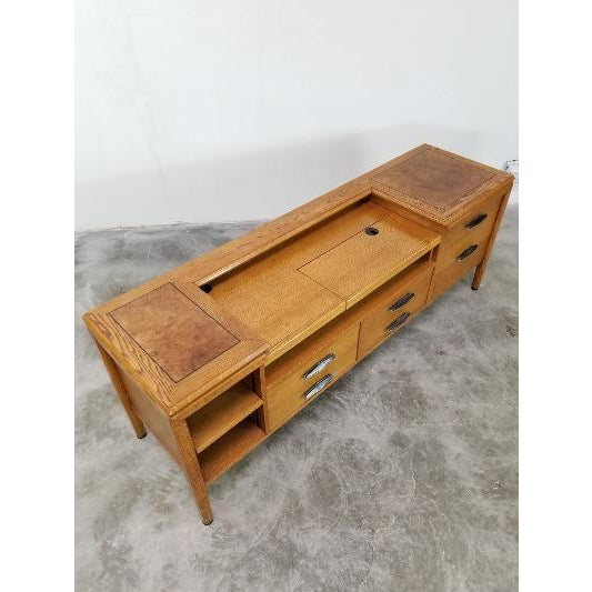 Wood 1960s Mid-Century Monteverdi Young Credenza Desk For Sale - Image 7 of 13