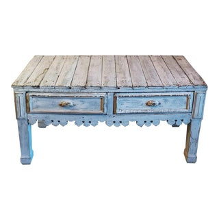 Antique French Butcher Work Table For Sale