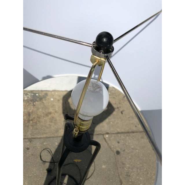 Contemporary 1980s Vintage Minimalist Iron Tripod Floor Lamp For Sale - Image 3 of 7
