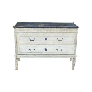 19 C. Painted French Louis XVI Style Commode For Sale