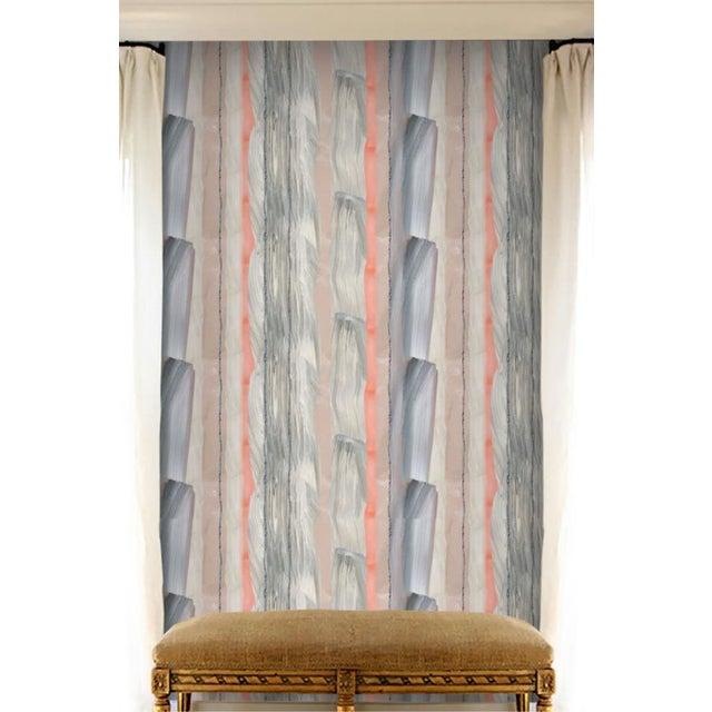 Angela Simeone Peach Marble Stripe Wallpaper For Sale - Image 4 of 10