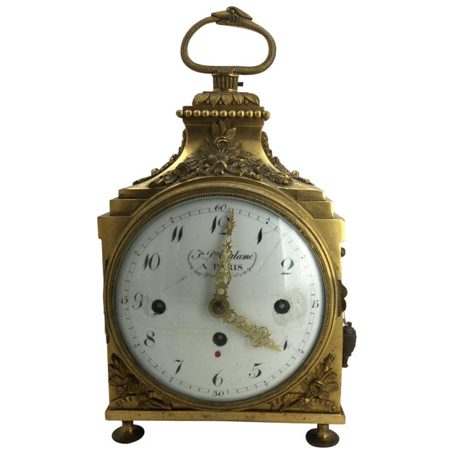 Late 18th Century Louis XVI Pendule d'Officier Ormolu Carriage Clock For Sale - Image 9 of 9