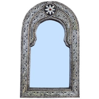 Hand-Engraved Moroccan Mirror For Sale