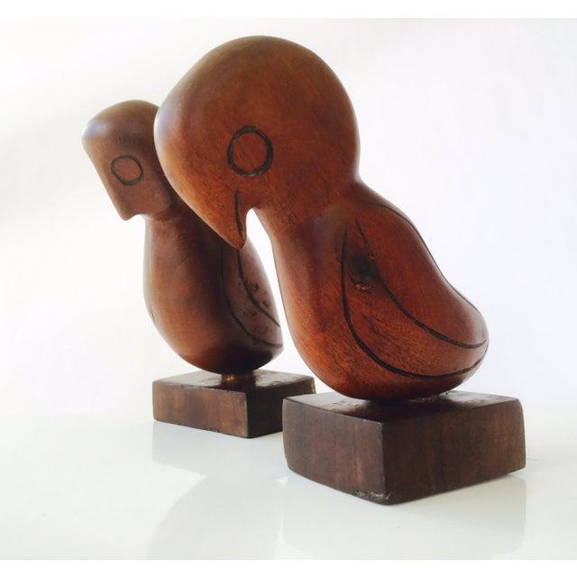 Mid-Century Teak Love Birds - A Pair - Image 2 of 7