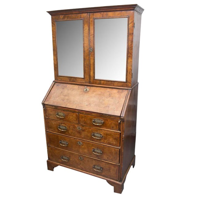 18th Century English Walnut Cottage Secretary For Sale
