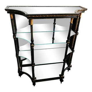 Late 19th Century Hollywood Regency Display Cabinet With Mercury Glass For Sale