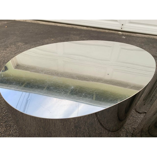 Brown 1980s Modern Organic Shape Chrome Tables - Set of 3 For Sale - Image 8 of 11