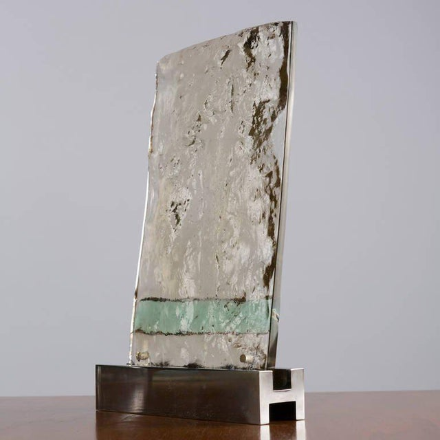 "Modern ""Vetrate Grossa"" Glass Sculpture by Gio Ponti For Sale - Image 3 of 8"