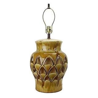 Vintage Hollywood Regency Gold Table Lamp For Sale