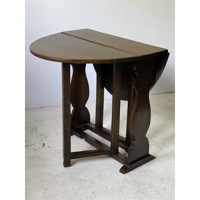 Late 19th Century English Dropleaf Trestle Table For Sale - Image 5 of 12