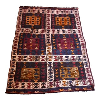 "Embroidered Anatolian Handmade Kilim - 2'8"" x 4'"