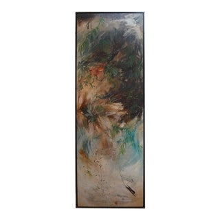 Large Oil on Canvas Signed Thompson Hughes, 1970 For Sale
